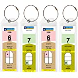 Cruise Tags - Narrow Cruise Ship Luggage Etag Holder with Zip Seal & Steel Loops for Royal Caribbean and Celebrity Cruises (8 pack)