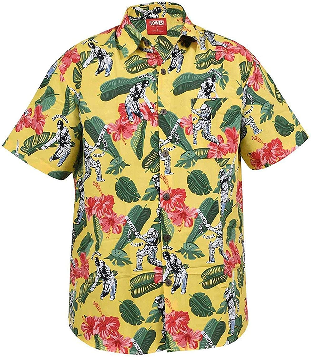 Mens Short Sleeve Hawaiian Floral Tee Party Holiday Beach Shirt Aloha Fancy Tops