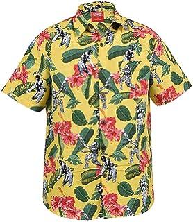 Mens Hawaiian Shirt Stag Beach Tropical Aloha Party Fancy Dress Costume Top
