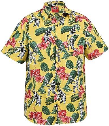 True Face Nuevo Hombre Cara Hawaiana Playa Flimingo montaña Primavera Camisetas: Amazon.es: Ropa y accesorios