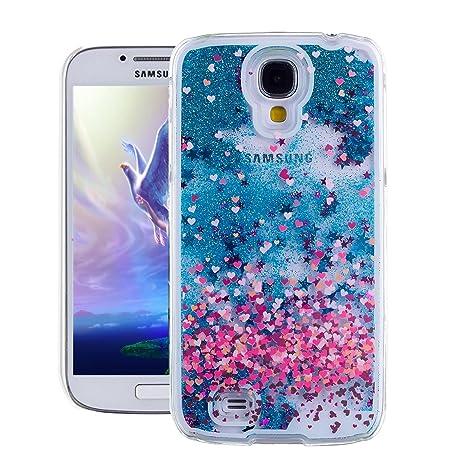 Samsung Galaxy S4 Funda ,EMAXELERS Serie Glitter Fluyendo Liquido Flotando Estrellas Moving Duro Protector Funda Cover Para Samsung Galaxy S4 I9500 + ...