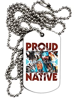 TOOLOUD Thank My Lucky Stars and Stripes Adult Dog Tag Chain Necklace
