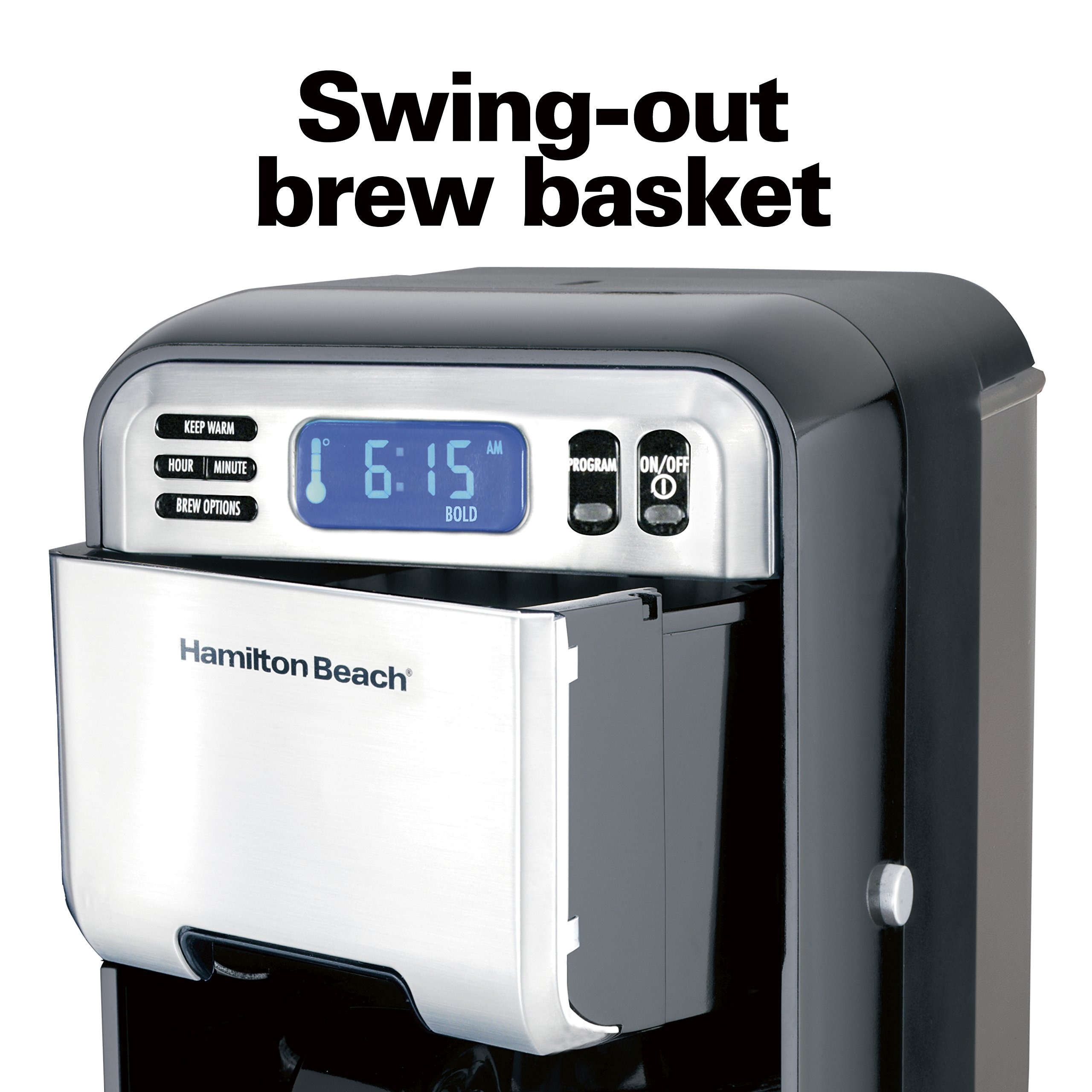 Hamilton Beach (46205) Coffee Maker, Programmable with 12 Cup Capacity, Stainless Steel by Hamilton Beach (Image #6)