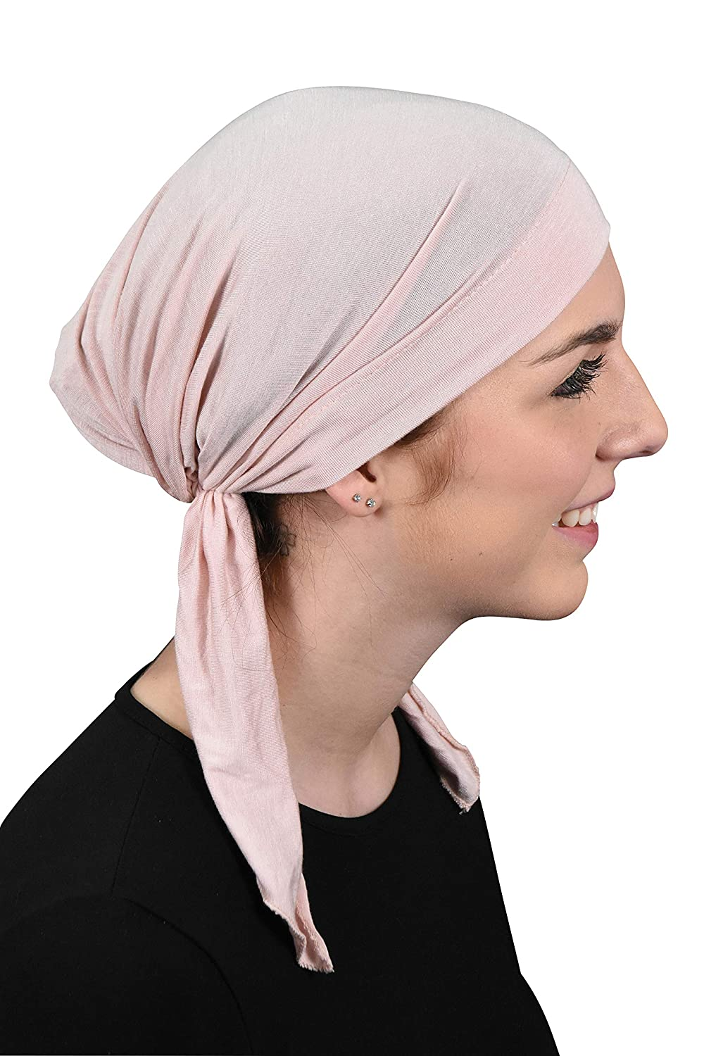 Purple Pretied Chemo Cap for Women Soft Cancer Scarf