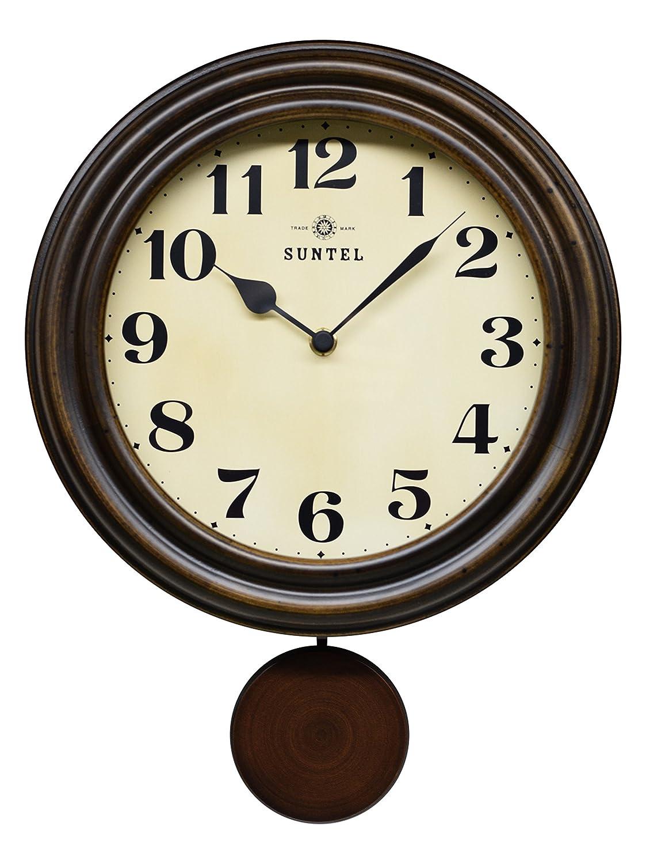 さんてる レトロ 電波 振り子 柱時計 日本製掛時計 DQL669 B019E612L6