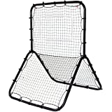Goplus Baseball Softball Soccer Rebounder Multi-Sport Return Trainer Throw Pitchback Net Baseball Hitting Net Training Screen