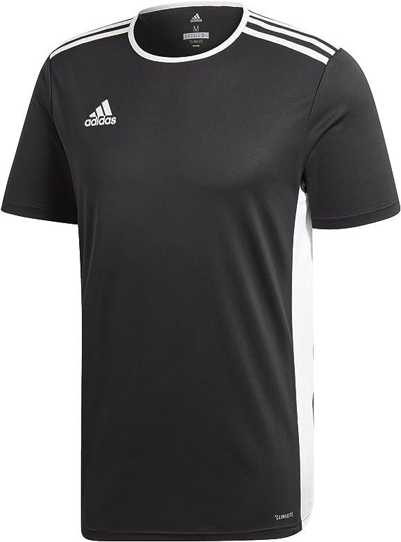 adidas Mens Soccer Entrada 18 Jersey, Black/White, XX-Large ...