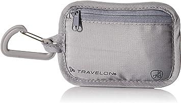 Travelon RFID Blocking Clip Stash Pouch, Gray, One Size