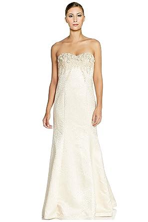 Amazon.com: Teri Jon Embellished Beaded Strapless Evening Ball Gown ...