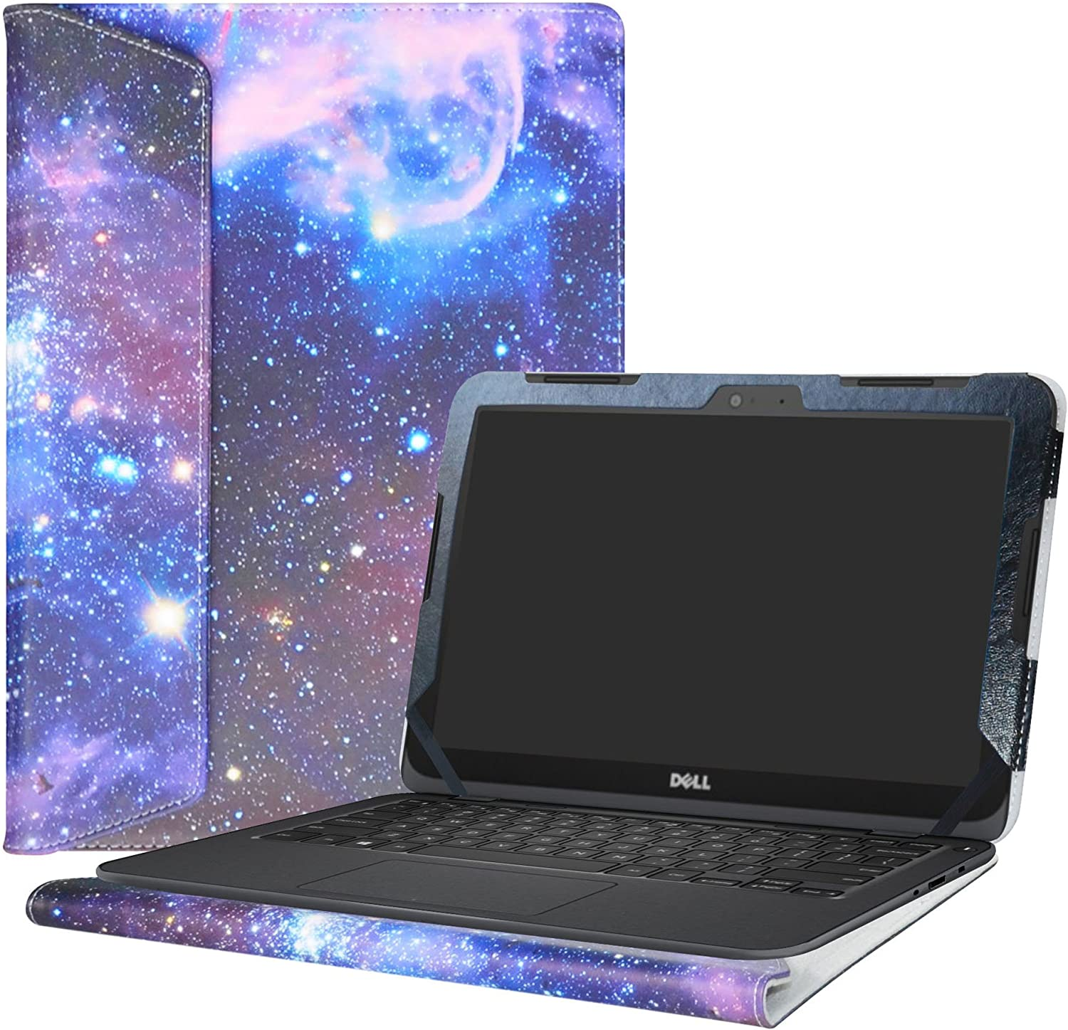 """Alapmk Protective Case Cover for 11.6"""" Dell Inspiron 11 3180 3162 3164 Series Laptop(Warning:Not fit Inspiron 11 3137 3138 3147 3148 Series),Galaxy"""