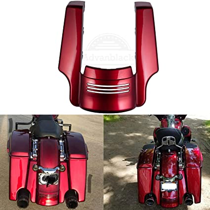 Us Stock Velocity Red Sunglo 4 1/2 inch Stretched Rear Fender Extension Fit  for Harley Touring Road King Street Glide Special 2014-2019