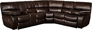 Homelegance Pecos Leather Gel Manual Reclining Sectional Sofa