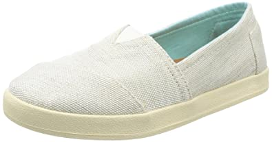 TOMS Womens Avalon Slip-On Natural Yarn-Dye 8.5 B US B (M