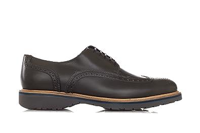 Salvatore Ferragamo Schuhe Derby Brogues Aus Leder 'Fuerte