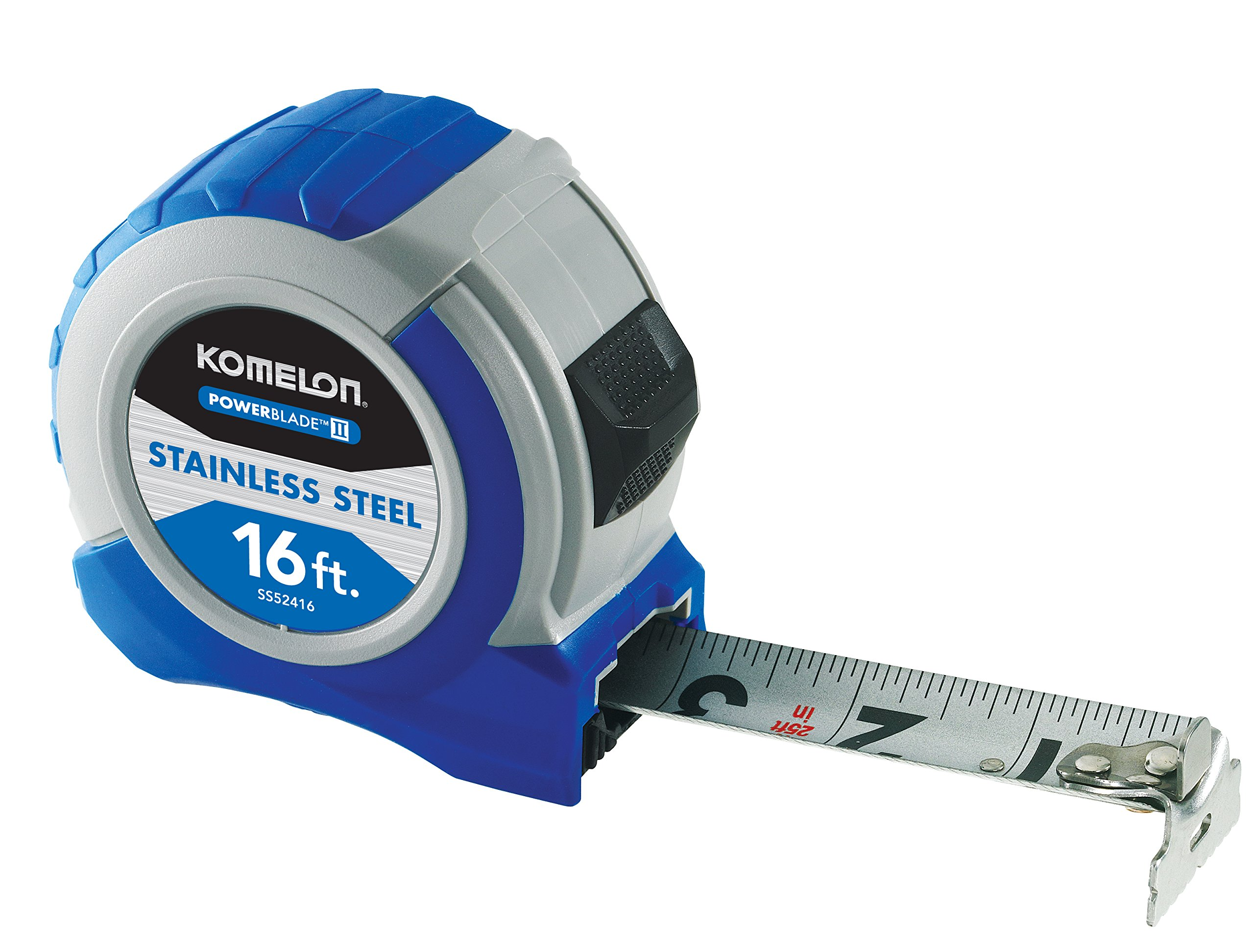 Komelon SS52416 Powerblade II Tape Measures, Small, Blue/Grey