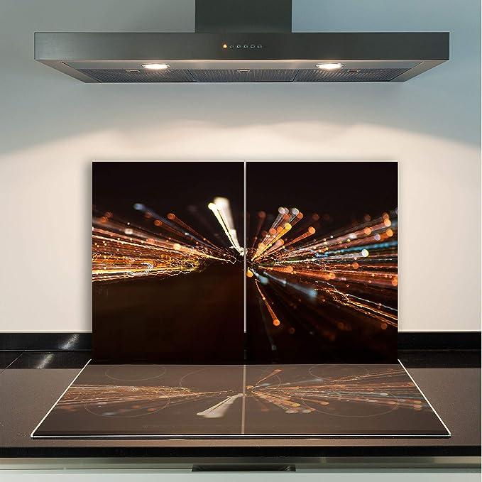 FORNELLO lastre di copertura 2x 40x52 cm Ceranfeld Copertura Vetro Paesaggio paraspruzzi