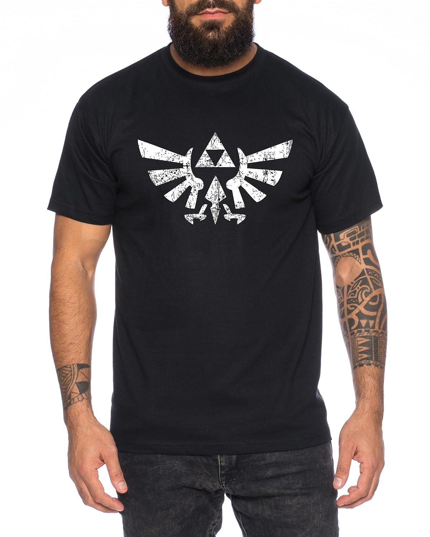 WhyKiki Zelda Link Epona SNES Ocarina Hyrule T-Shirt Herren Zelda-H-T-Shirt