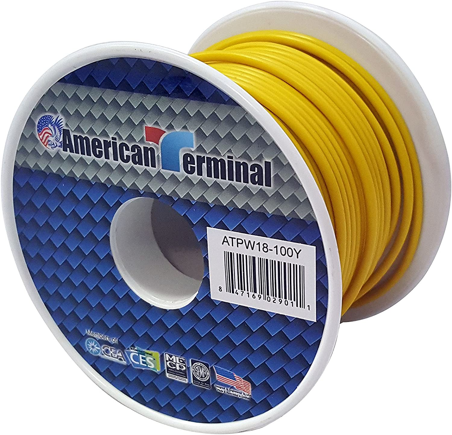American Terminal ATPW18-100BR 18 Gauge Primary Wire Brown