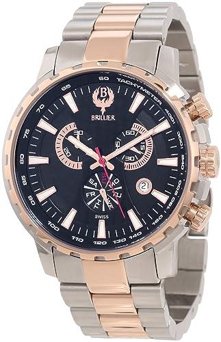 Brillier Men s 16-02 Endurer Rose Gold Chronograph Swiss Quartz Watch