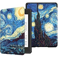 Fintie Slimshell Case for All-New Kindle Paperwhite (10th Generation, 2018 Release) - Premium Lightweight PU Leather Cover with Auto Sleep/Wake for Amazon Kindle Paperwhite E-Reader, Starry Night