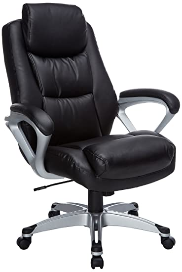 Lorell LLR52120 Executive Leather High Back Chair, 2.5u0026quot; Height X  5.3u0026quot; Width
