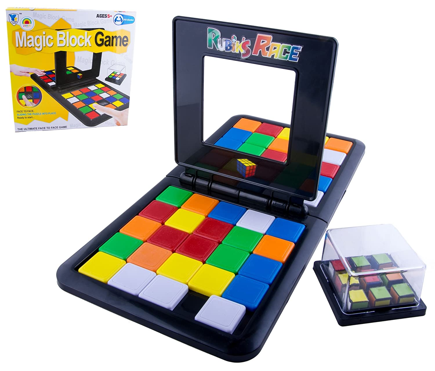 STAY Active Magic Block Game (Rubik's Race) by UK Stock - Non Slip & Includes 2 Drawstring Pouches!
