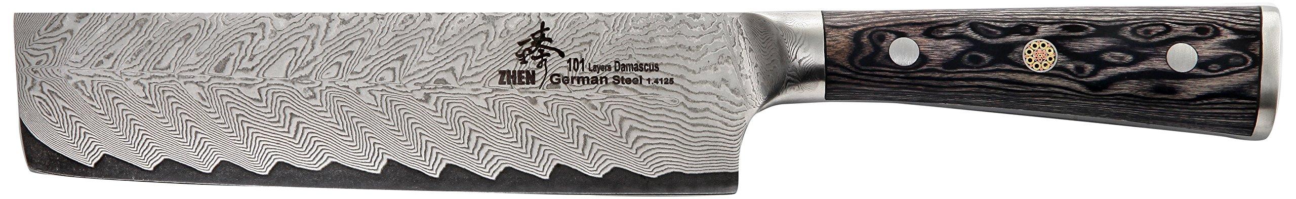 ZHEN Thunder Series 101 Layers German Damascus Steel Nakiri Knife 6.5-inch by ZHEN (Image #1)