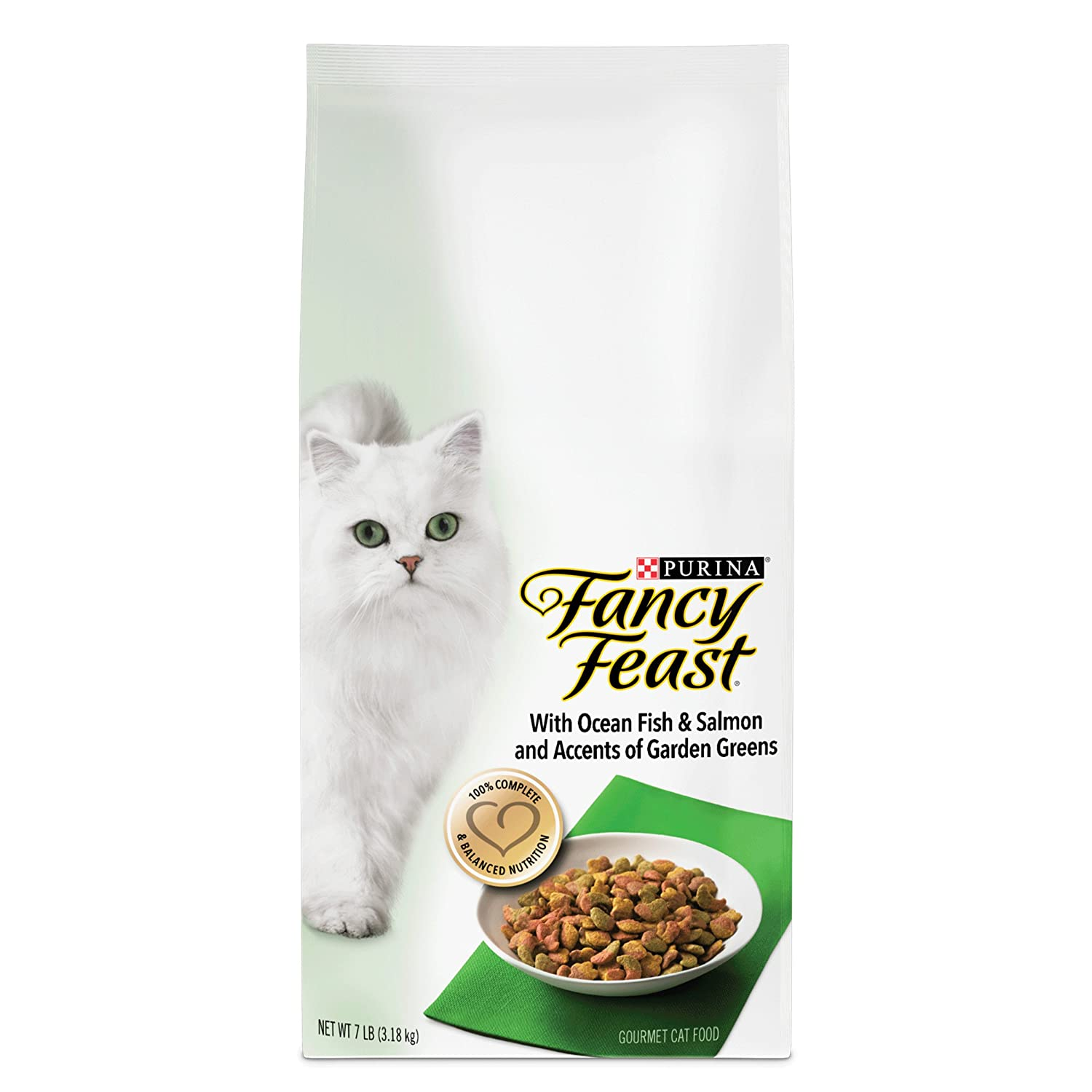 Purina Fancy Feast Gourmet Dry Cat Food with Ocean Fish and Salmon