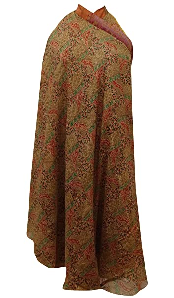 Indianbeautifulart Sari de la Vendimia Reversible Ropa de Dormir de Las Mujeres del Abrigo de Maxi: Amazon.es: Ropa y accesorios