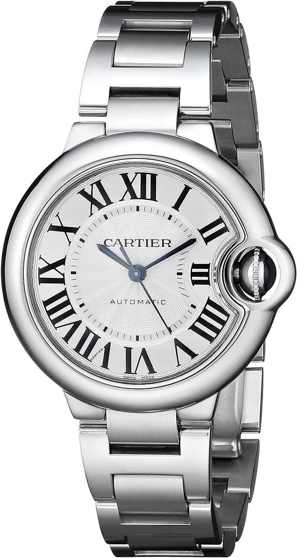 Cartier W6920071de la mujer analógico automático para hombre plateado reloj