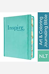 Tyndale NLT Inspire Bible (Hardcover, Aquamarine): Journaling Bible with Over 400 Illustrations to Color, Coloring Bible with Creative Journal Space - Religious Gift that Inspires Connection with God Hardcover