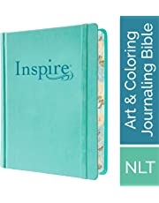 Tyndale NLT Inspire Bible (Hardcover, Aquamarine): Journaling Bible with Over 400 Illustrations to Color, Coloring Bible with Creative Journal Space - Religious Gift that Inspires Connection with God