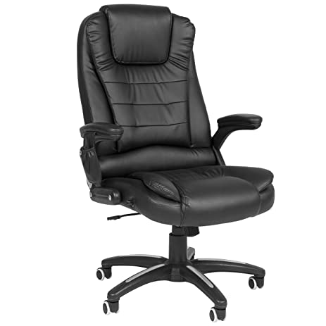 best choice products executive ergonomic heated vibrating computer chair black