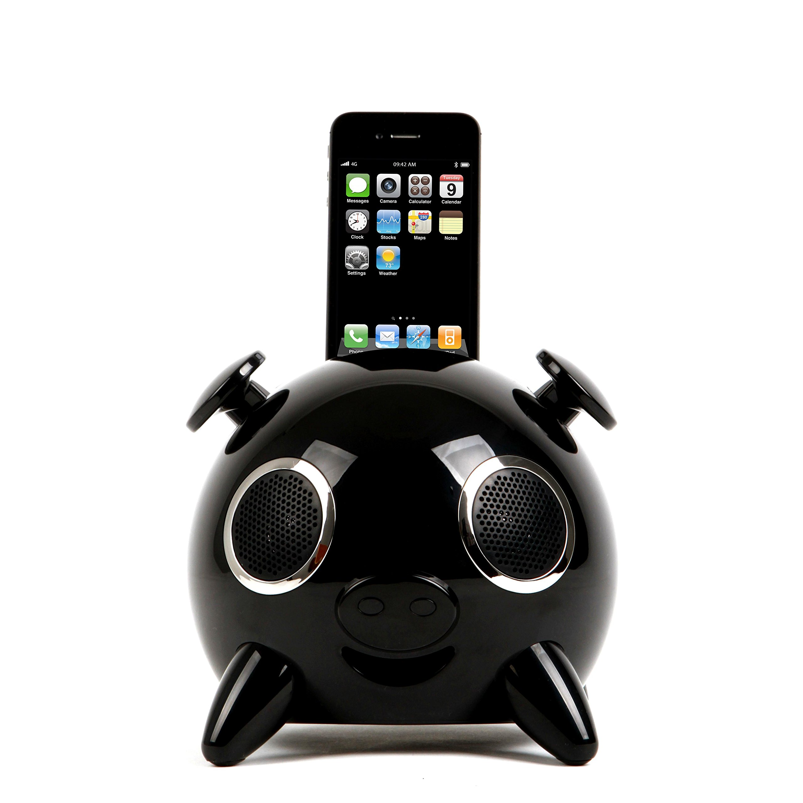 Amethyst Innovations AIP0120BK Docking Pig Speaker, Black