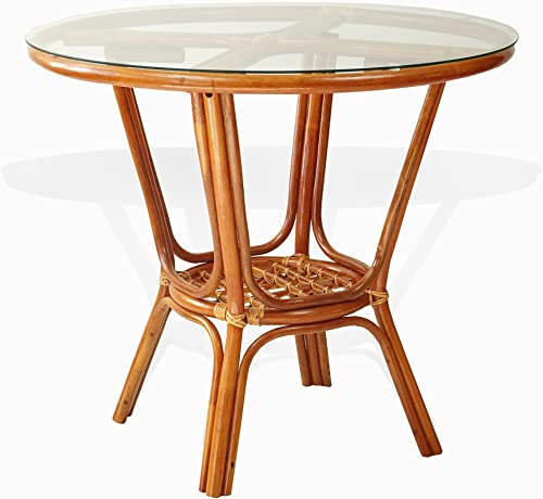 Pelangi Rattan Wicker Round Dining Table