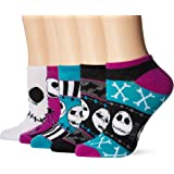 Disney womens standard Nightmare Before Christmas 5 Pack No Show Socks