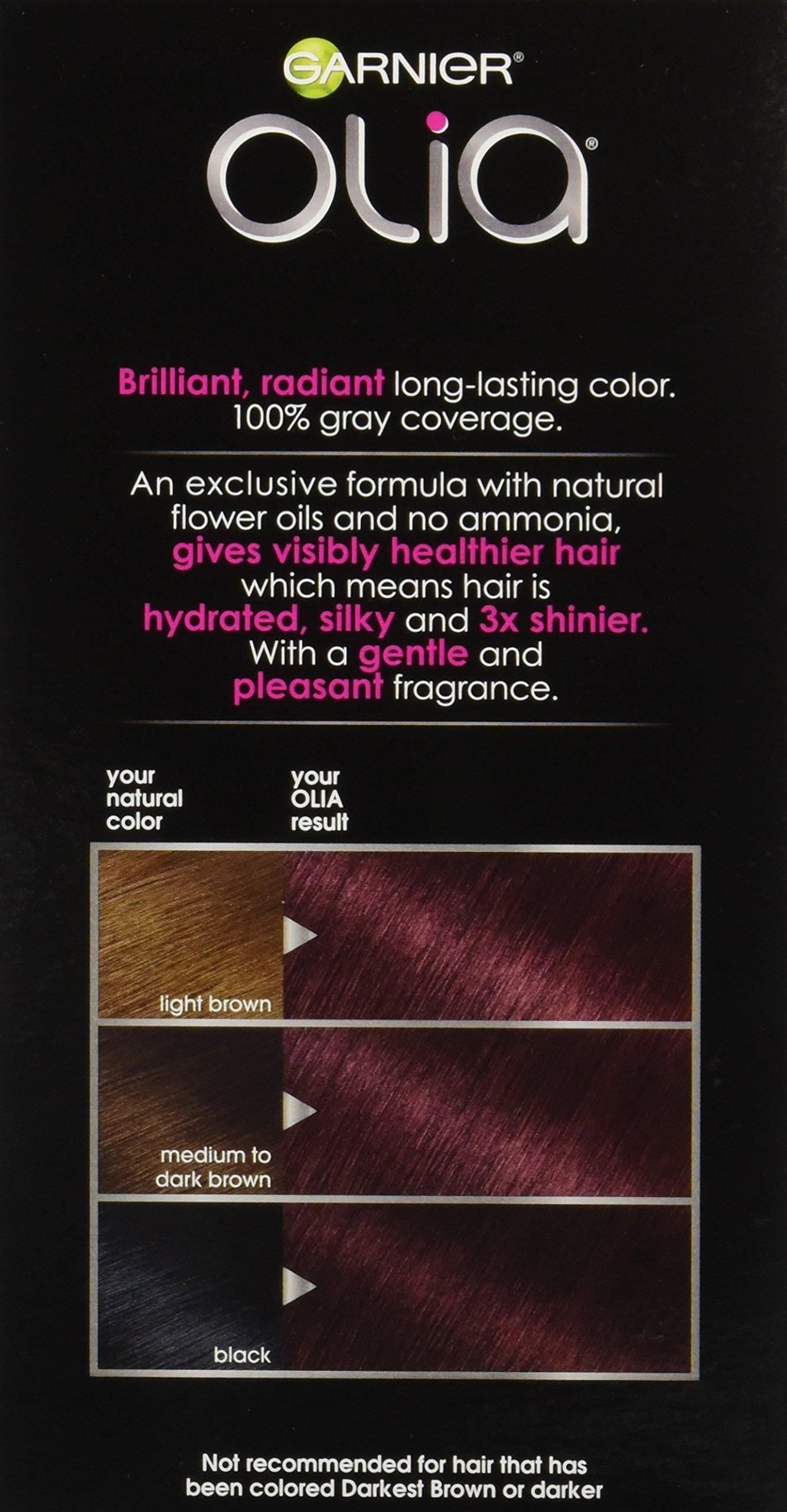 Garnier Olia Hair Color 462 Dark Garnet Red Ammonia Free Red Hair