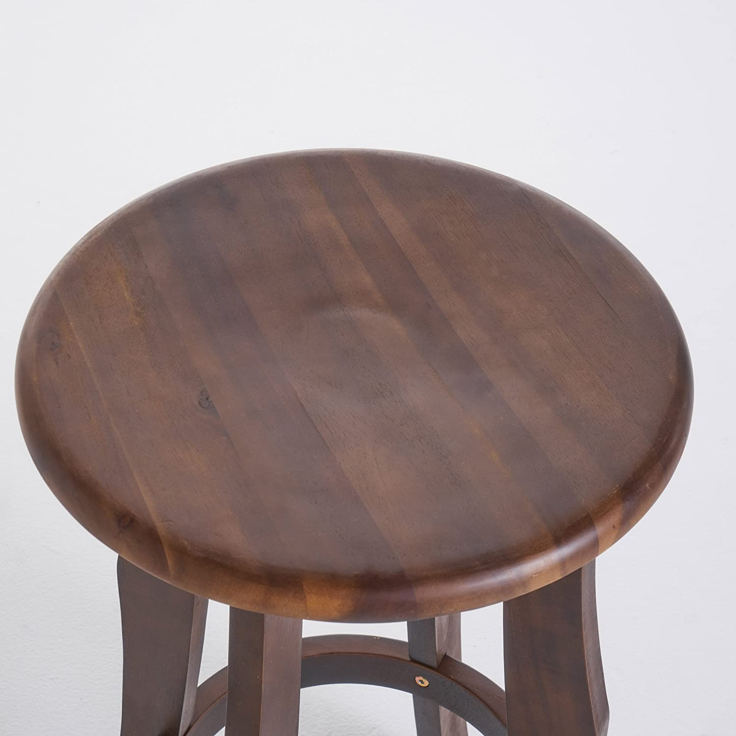 Great Deal Furniture 303980 Ruth Indoor Dark Brown Finished Acacia Wood Barstools , Set of 2