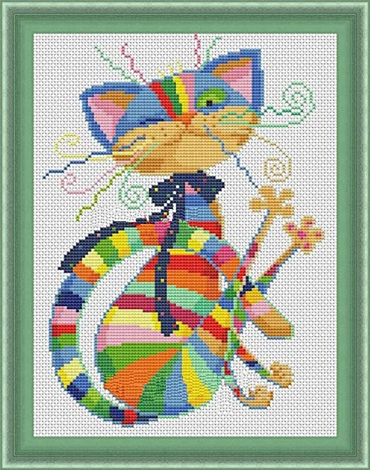 Colorido gatos en dibujos animados Kits de punto de cruz ...