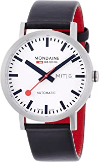 Mondaine Unisex A132.30359.16SBB SBB Analog Display Swiss Automatic Black Watch