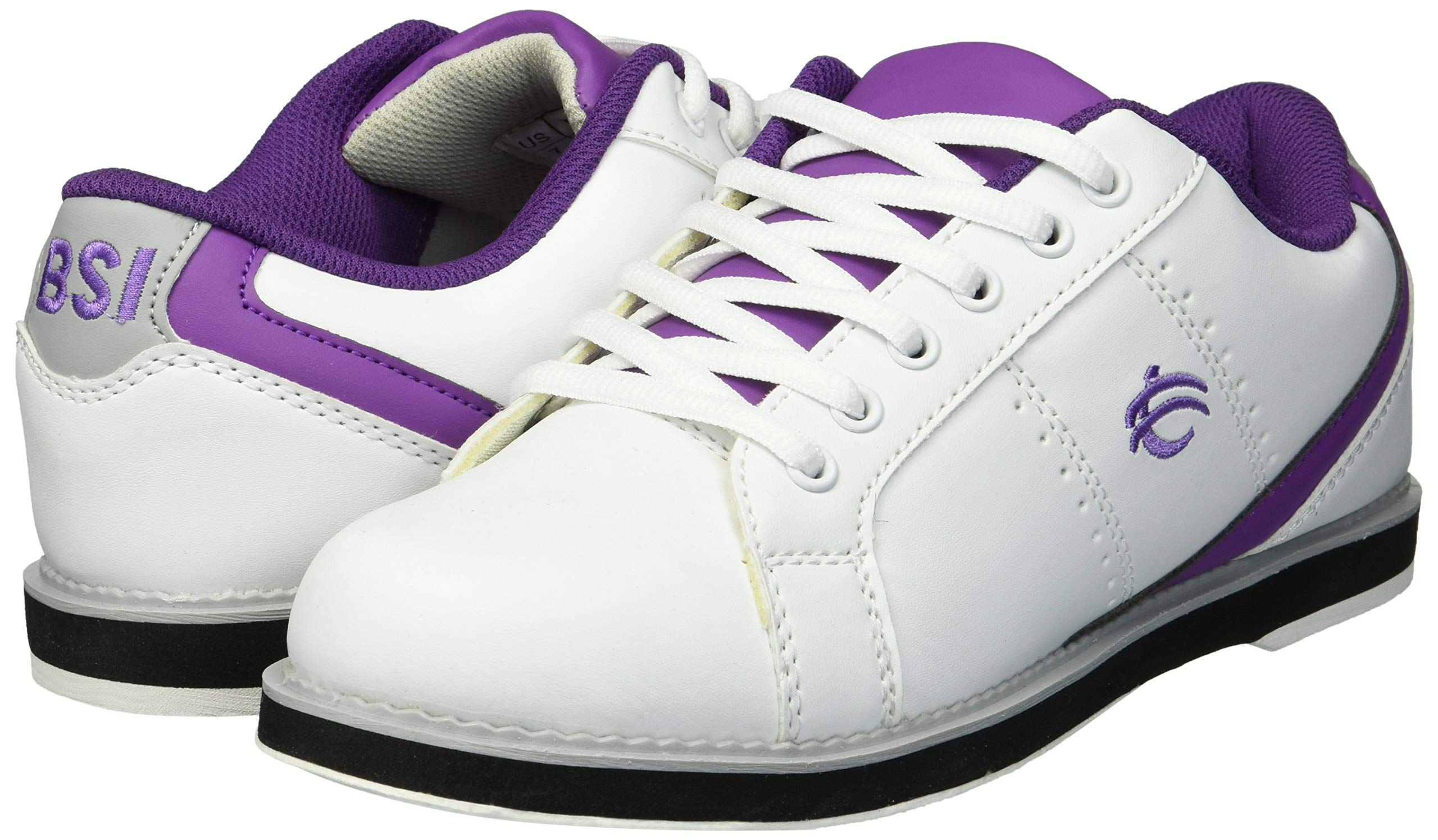 BSI Women's 460 Bowling Shoe, White/Purple, Size 10 by BSI (Image #5)