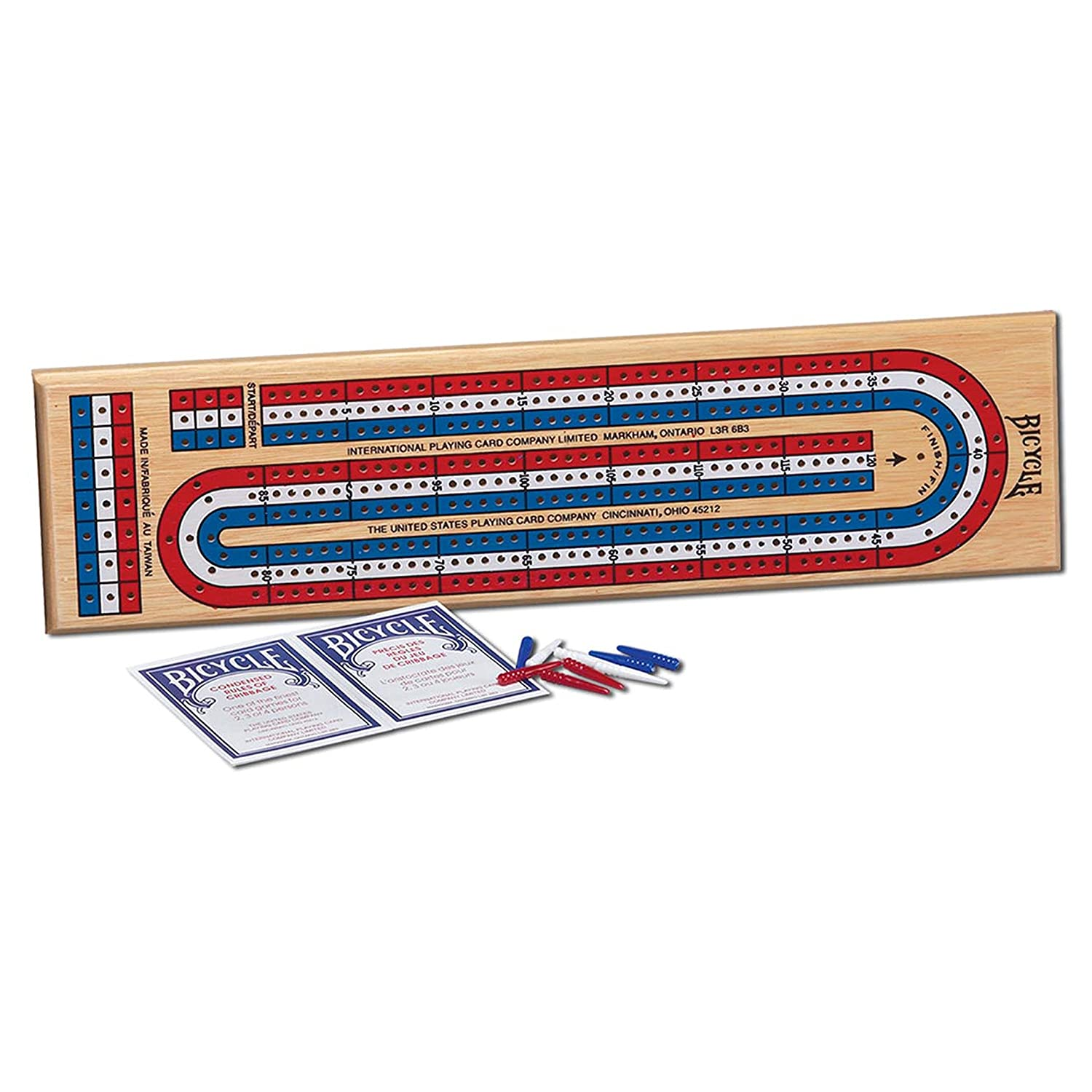 Springbok Bicycle 3-Track Color Coded Wooden Cribbage Game 1007289