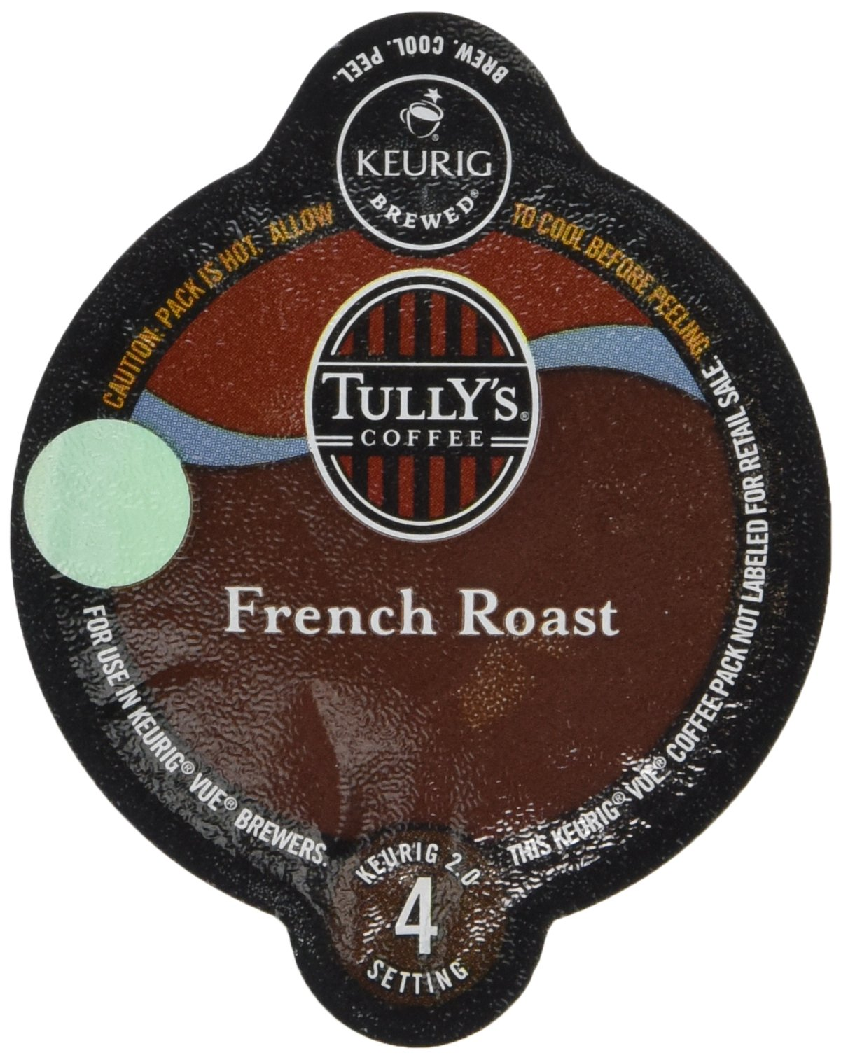 Tully's French Roast Coffee Keurig Vue Portion Pack, 32 Count 0.4 oz.