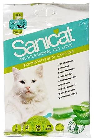 Sanicat 1571260031 - toallitas manopla higiénicas para gato wipes: Amazon.es: Productos para mascotas