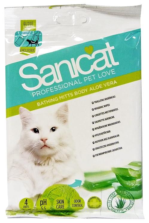 Sanicat 1571260031 - toallitas manopla higiénicas para Gato Wipes