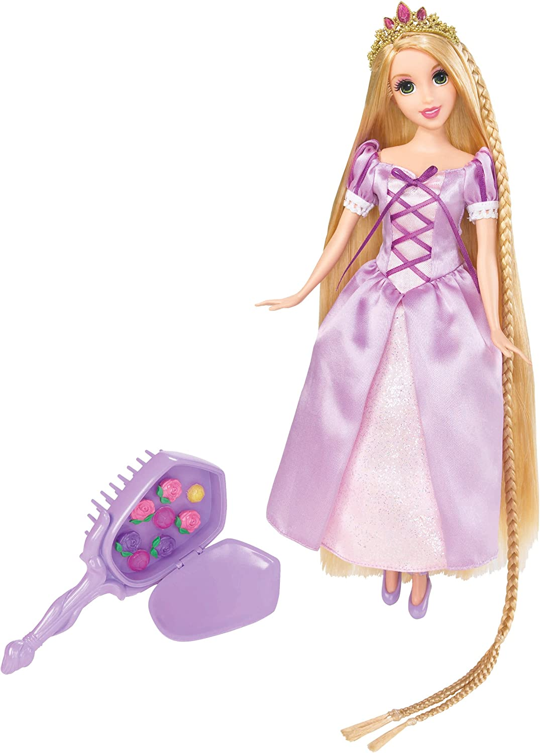 Amazon Com Disney Tangled Featuring Rapunzel Grow And Style Doll Toys Games