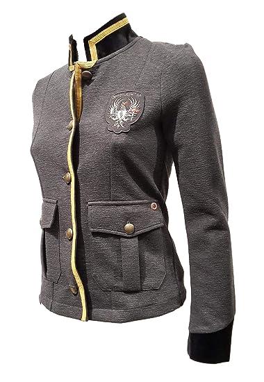 Aeronautica Militare Giacca Blazer Donna AF345D Grigio Melange ... e52280f3625