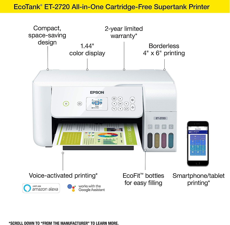 Amazon.com: Epson EcoTank ET-2720 Impresora multitanque a ...