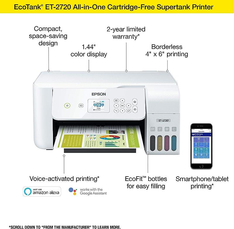 Epson EcoTank ET-2720 Wireless Color All-in-One Supertank Printer
