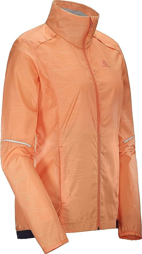 Salomon Agile Wind Womens Running Jacket Orange